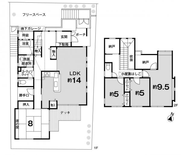 一戸建て 京田辺市山手東1丁目 JR学研都市線松井山手駅 13.5万円