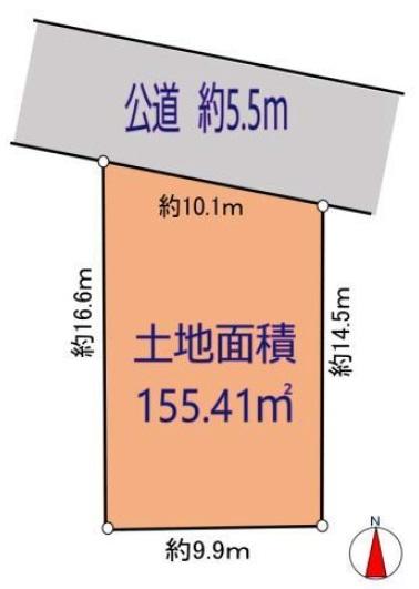 土地 三郷市新和1丁目136-2 つくばエクスプレス三郷中央駅 3280万円