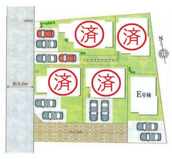 新築戸建 吉川市高富1丁目 JR武蔵野線吉川駅 3390万円