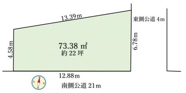 土地 八潮市中央3丁目 つくばエクスプレス八潮駅 1780万円