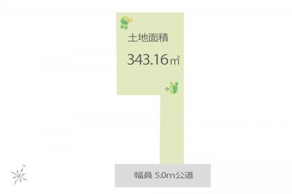 土地 埼玉県坂戸市関間2丁目 東武東上線若葉駅 2480万円
