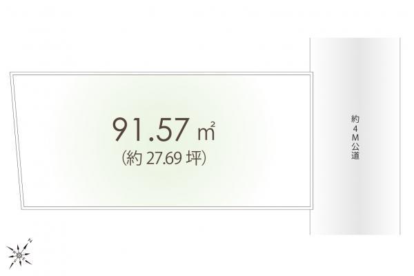 土地 埼玉県狭山市大字北入曽 西武新宿線入曽駅 1080万円