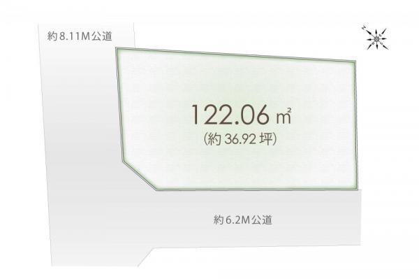 土地 埼玉県入間郡三芳町大字藤久保 東武東上線鶴瀬駅 2180万円