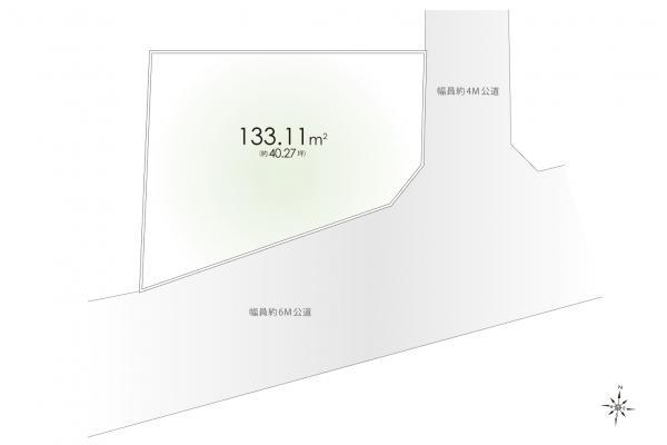 土地 東京都東大和市清水5丁目 西武多摩湖線武蔵大和駅 2480万円