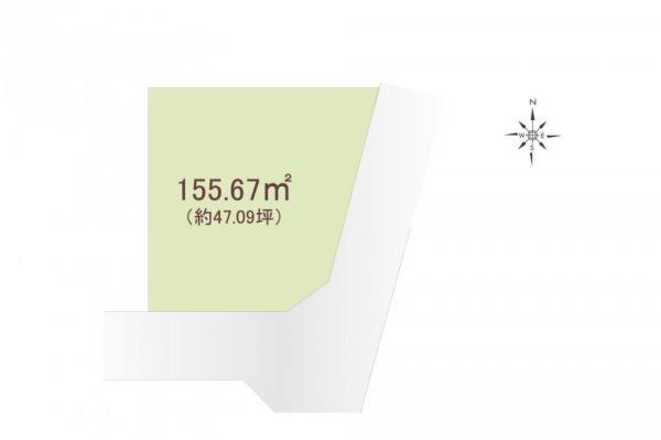 土地 埼玉県所沢市小手指町2丁目 西武池袋線小手指駅 4380万円