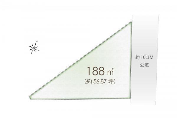 土地 埼玉県富士見市渡戸2丁目 東武東上線ふじみ野駅 2400万円