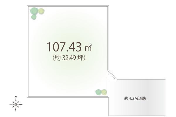 土地 埼玉県狭山市中央2丁目 西武新宿線狭山市駅 1100万円