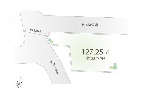 土地 東京都東村山市富士見町2丁目 西武拝島線小川駅 2450万円