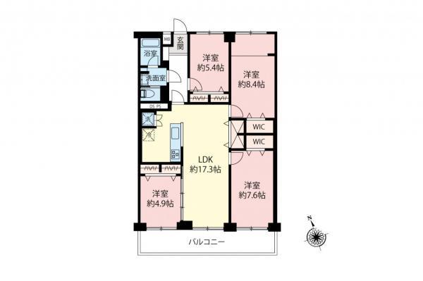中古マンション 小金井市桜町1丁目 JR中央線武蔵小金井駅 3390万円