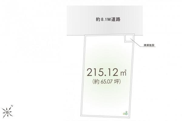 土地 川越市大字久下戸 JR川越線南古谷駅 2130万円