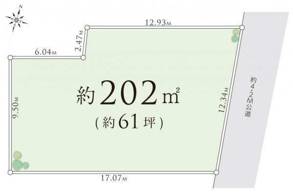 土地 川越市大字下広谷 東武東上線鶴ヶ島駅 825万円
