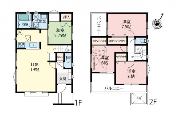 新築戸建 所沢市東所沢2丁目 JR武蔵野線東所沢駅 4680万円