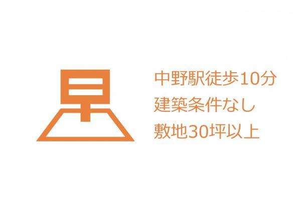土地 中野区中野5丁目 JR中央線中野駅 7000万円