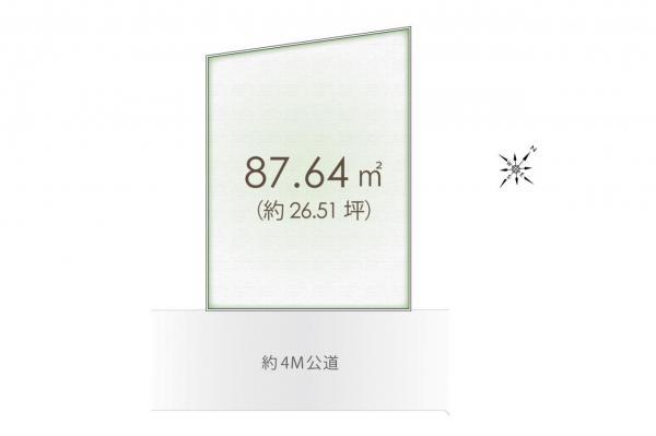 土地 入間郡三芳町大字藤久保 東武東上線鶴瀬駅 1480万円