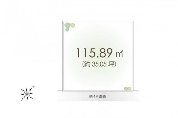 土地 所沢市大字山口 西武山口線遊園地西駅 1080万円