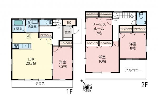 新築戸建 所沢市松葉町 西武新宿線新所沢駅 7280万円