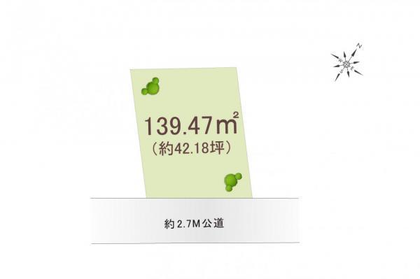 土地 所沢市大字荒幡 西武狭山線下山口駅 1350万円
