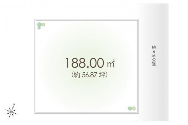 土地 狭山市大字水野 西武新宿線入曽駅 1280万円
