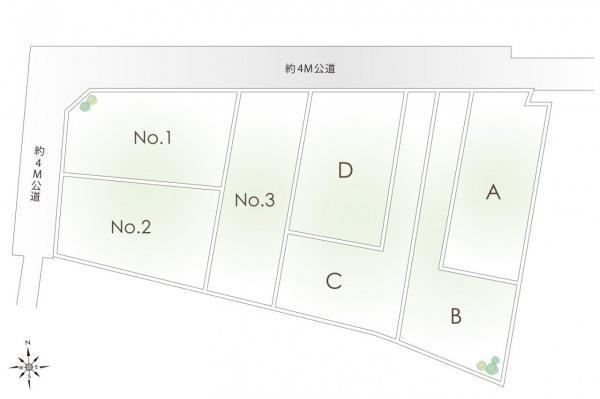 土地 川越市大字木野目 JR川越線南古谷駅 1280万円~1680万円