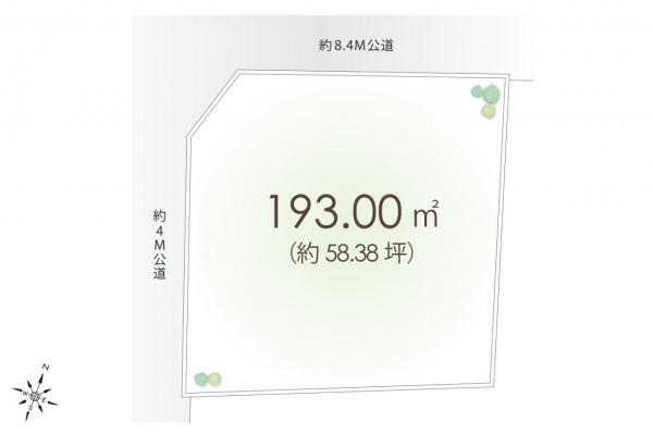 土地 日高市大字高萩 JR川越線武蔵高萩駅 1080万円