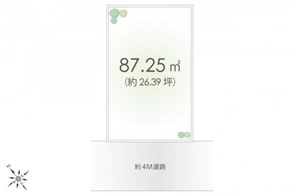 土地 新座市野火止4丁目 JR武蔵野線新座駅 2180万円