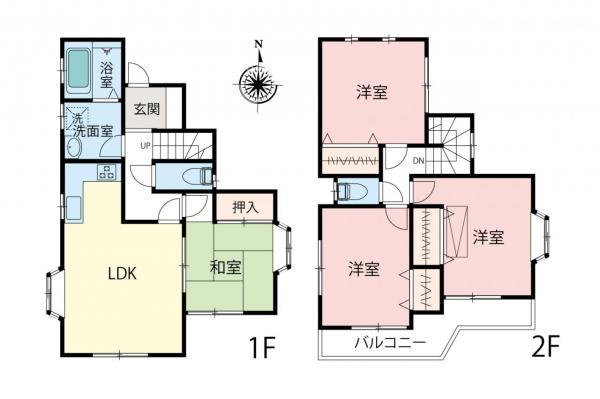 中古戸建 所沢市若松町 西武新宿線航空公園駅 2199万円