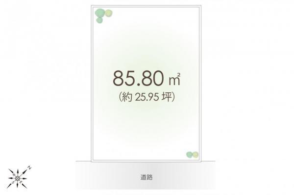 土地 坂戸市千代田2丁目 東武東上線坂戸駅 1150万円