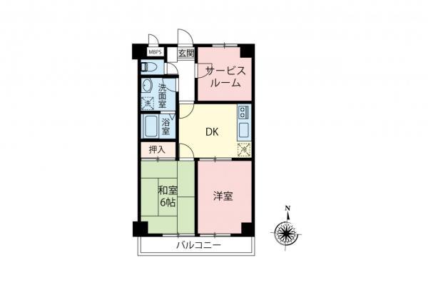 中古マンション 所沢市東所沢和田1丁目 JR武蔵野線東所沢駅 1080万円