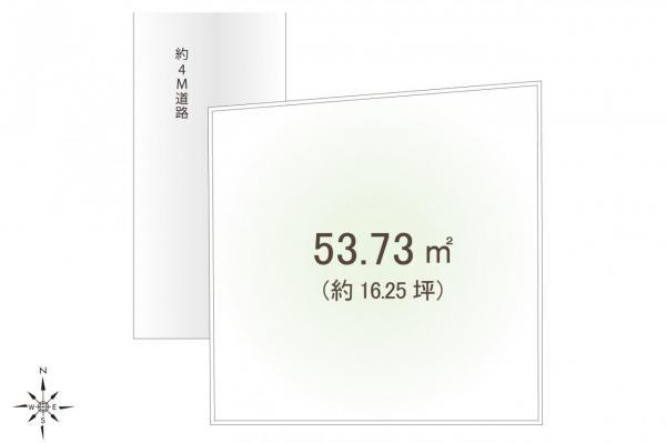 土地 富士見市鶴瀬西2丁目 東武東上線鶴瀬駅 1280万円