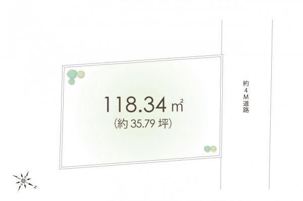 土地 清瀬市竹丘3丁目 西武池袋線清瀬駅 1780万円