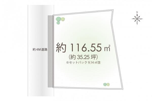 土地 所沢市日吉町 西武池袋線所沢駅 4480万円