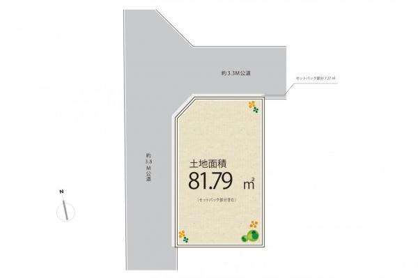 土地 西東京市泉町2丁目 西武池袋線ひばりヶ丘駅 1980万円
