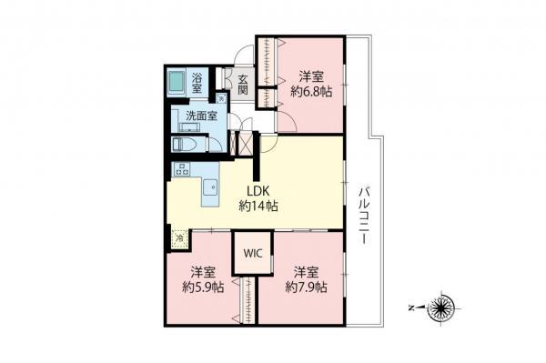 中古マンション 板橋区高島平3丁目 都営三田線新高島平駅 2799万円