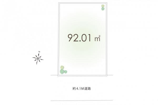 土地 東久留米市小山3丁目 西武池袋線清瀬駅 1980万円