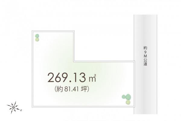 土地 所沢市松葉町 西武新宿線新所沢駅 7500万円