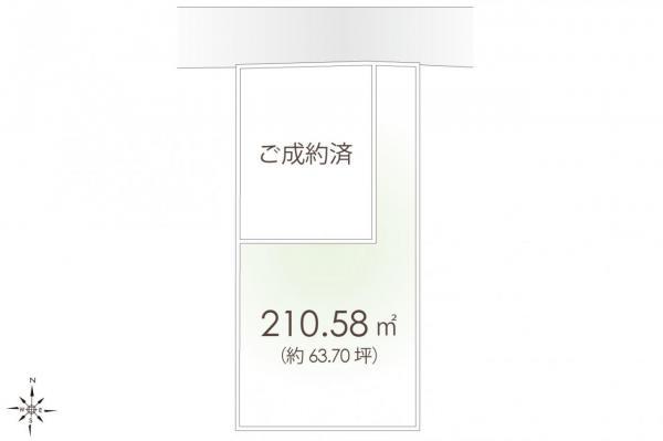 土地 鶴ヶ島市大字藤金 東武東上線若葉駅 1980万円