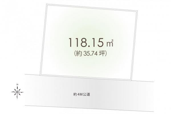 土地 新座市野火止8丁目 JR武蔵野線新座駅 2680万円
