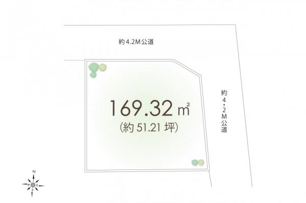 土地 所沢市大字上山口 西武狭山線西武球場前駅 1880万円