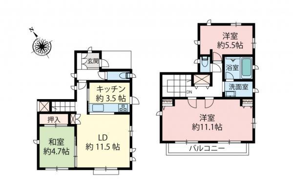 中古戸建 所沢市大字久米 西武狭山線西所沢駅 2780万円