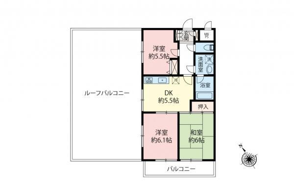 中古マンション 所沢市東所沢2丁目 JR武蔵野線東所沢駅 1280万円