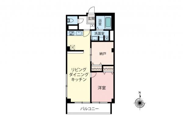 中古マンション 小金井市桜町2丁目 JR中央線武蔵小金井駅 1590万円