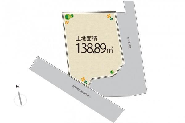 土地 練馬区谷原5丁目 西武池袋線石神井公園駅 5780万円