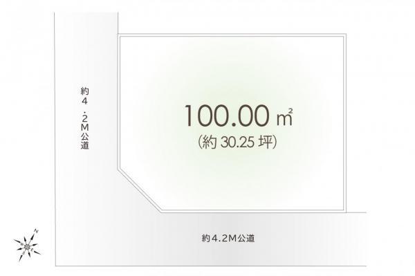 土地 鶴ヶ島市大字脚折 東武東上線若葉駅 1280万円