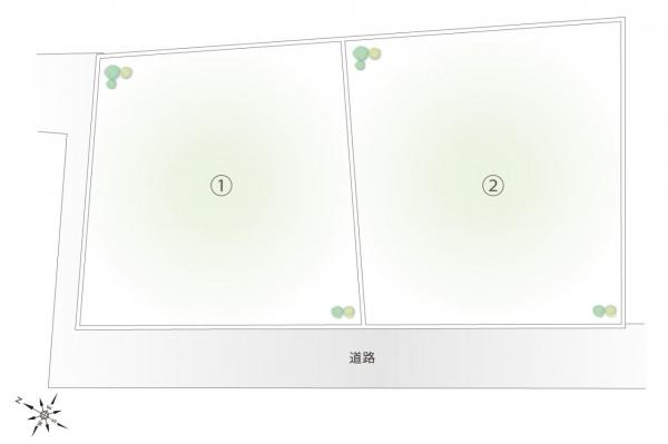 土地 日高市大字鹿山 JR川越線高麗川駅 1380万円~1480万円