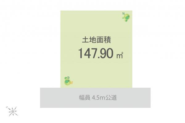 土地 狭山市大字水野 西武新宿線入曽駅 1830万円