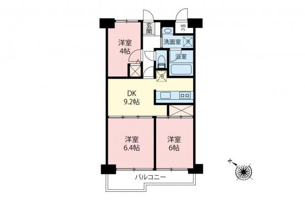 中古マンション 坂戸市関間3丁目 東武東上線坂戸駅 1280万円