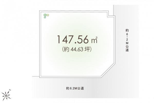 土地 鶴ヶ島市大字脚折 東武東上線若葉駅 1680万円