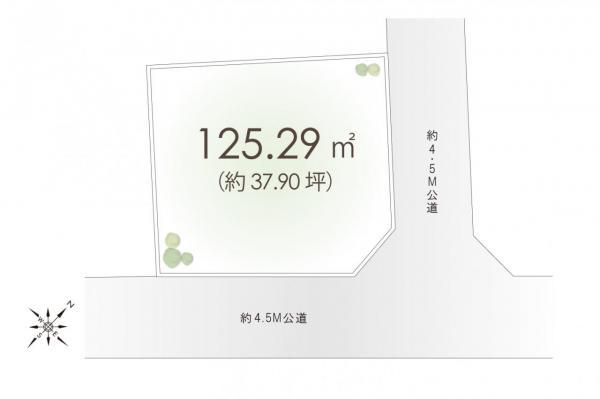 土地 富士見市大字水子 東武東上線みずほ台駅 2680万円