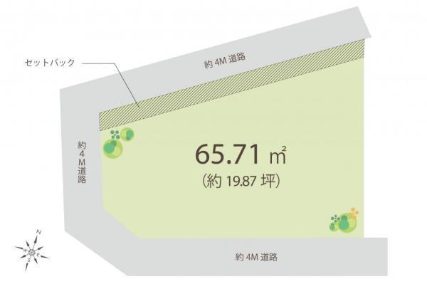土地 入間郡三芳町大字藤久保 東武東上線鶴瀬駅 1180万円