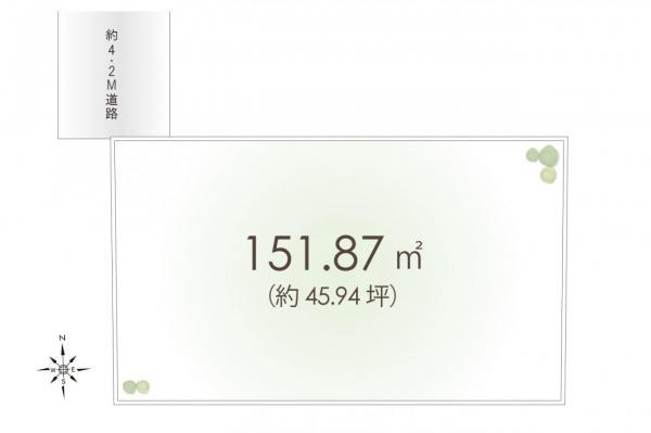 土地 富士見市羽沢2丁目 東武東上線鶴瀬駅 2380万円